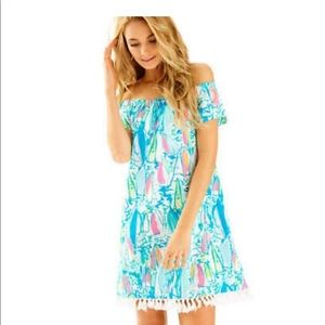 Lilly Pulitzer off the shoulder dress. NWT